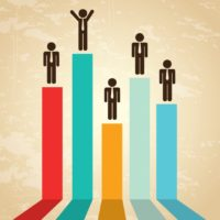 financial growth over vintage background vector illustration